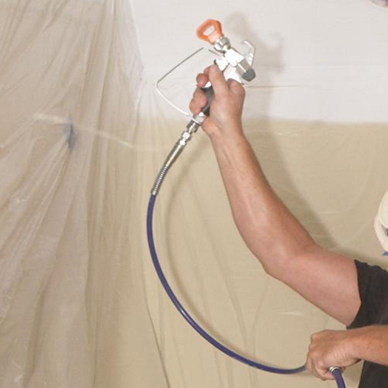 Airless spraying a ceiling